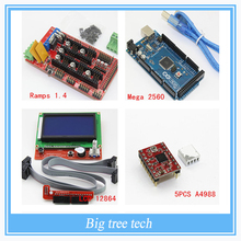 3D Printer kit- 	Mega 2560 R3 Microcontroller + ramps 1.4 controller + 12864 LCD Panel + A4988 stepper driver For arduino