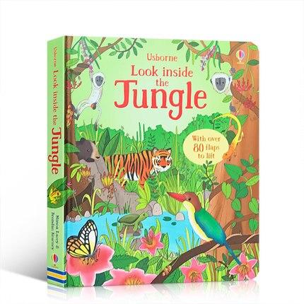 Всплывающие джунгли английский образовательный 3D лоскут картины книги