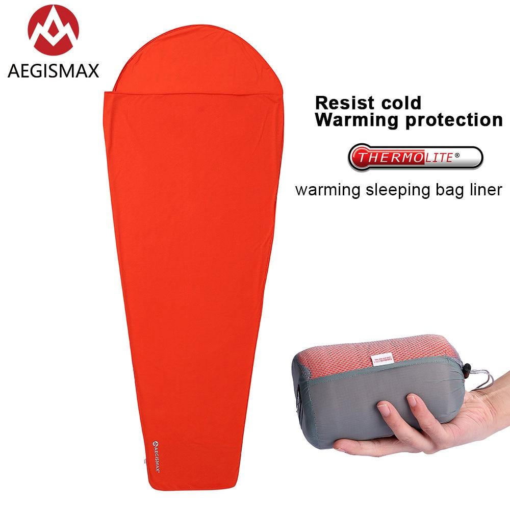 AEGISMAX Thermolite di Riscaldamento 5/8 Gradi Celsius Sacco A Pelo Fodera Esterna di Campeggio Portatile Singolo Letto A Dormire Copriletto Temperatura di Blocco