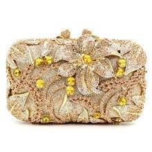 2016 neue Dame Tageskupplungen Luxus Kristall Diamanten Blume Abendtasche Handtasche Top Bankett Hochzeit Partei Geldbörsen Handtaschen Sacs