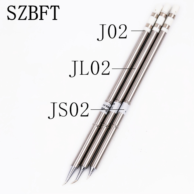 SZBFT 3pcs JS02 JL02 J02 Soldering Iron Tips T12 Series For Hakko Soldering Rework Station
