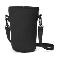 1pc 18/36/64OZ Useful Portable Water Bottle Sleeve Black Drink Carrying Pouch Bag with Handle Sport Cover