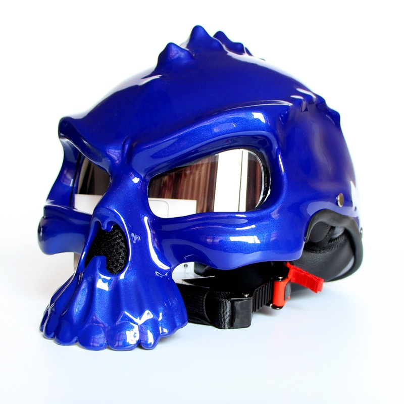 Summer ABS Personality Skeleton Helmet Motorcycle Half Helmet Male Female Personality Wizard Motorcycle Helmet For Unisex male adolescents personality