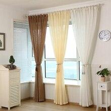 Simple Modern Style Solid Cross-shaped Hemp Screen Window Screen Bedroom Balcony Isolated 500 g/m Window curtain