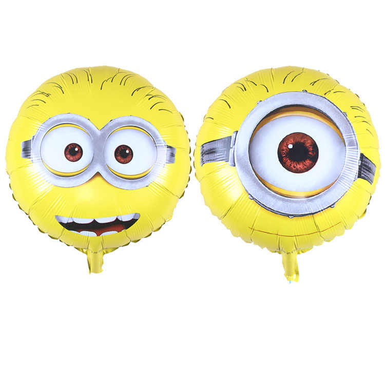 KUWANLE 10pcs/lot Despicable Me Minions Foil Balloons Baby Shower Inflatable Air Toys Balloon Birthday Party Decorations Globos