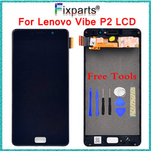 For Lenovo P2 P2c72 P2a42 Display Touch Screen Digitizer Panel Assembly With Frame Replacement Parts For Lenovo P2 LCD Display high quality black lcd display digitizer touch screen tp glass assembly with frame for lenovo a828t phone replacement parts