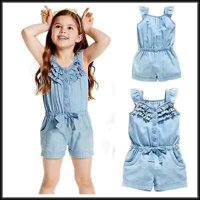 2016 new summer baby girl romper demin sleeveless one pieces Jumpsuit clothing chic women s round neck sleeveless demin jumpsuit
