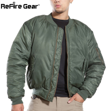 MA1 Army Air Force Fly Pilot Jacket Military Airborne Flight Tactical Bomber Jacket Men Winter Warm Aviator Motorcycle Down Coat