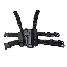 Tactical Gun Case Right Thigh Leg Holster for Beretta 92 96 M9 Military Combat Airsoft Pistol W/Magazine Torch Pouch