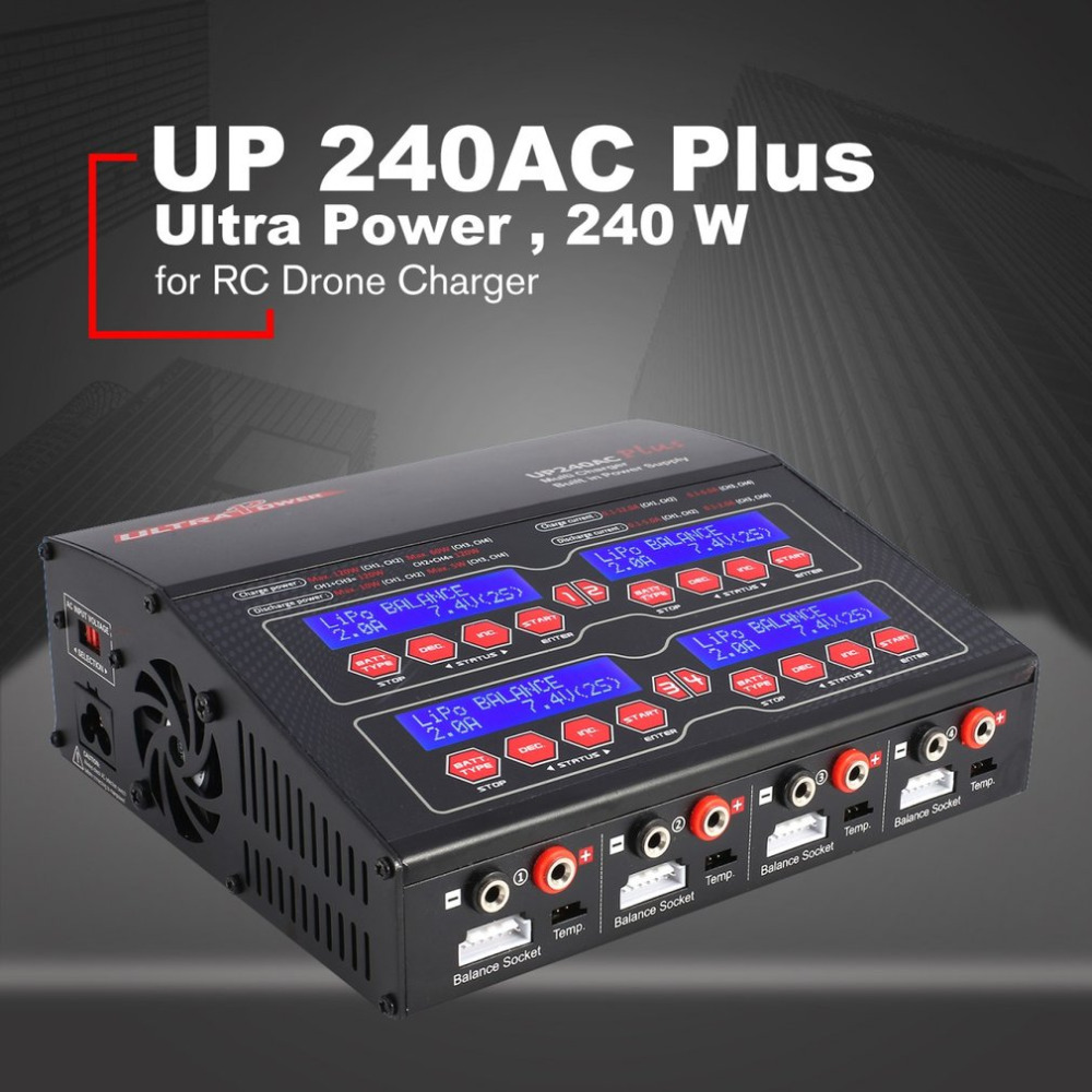 Ultra Power UP240AC Plus 240 W 4 Doors Lilo/LiPo/LiFe/ NiMH