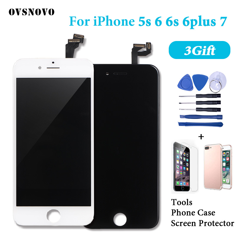 LCD para iPhone 7 6 6 pantalla Asamblea digitalizador de pantalla táctil para el iPhone 6 iPhone 6 s 5S 6 P pantalla reemplazo completo LCD Alibaba Express
