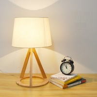 Creative Fashion Modern Original Wooden Table Light E27 AC 110V 220V Table Lamp Bedroom Bedside Home