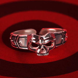 Image 4 - Game Anime Persona 5 P5 Joker Persona Mask Ring S925 Sliver Protagonist Eye Wolf Rings Women Men Animal Ring Cosplay Jewelry