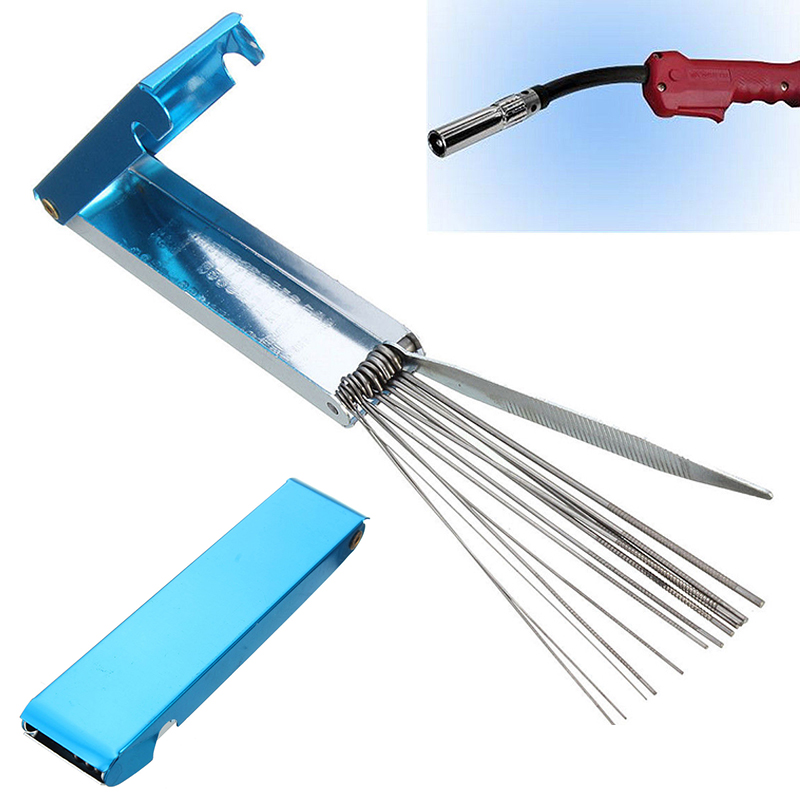 14 In 1 Welding Tip Cleaner Cutting Nozzle Needles Kit Stainless Steel Reamers Soldering