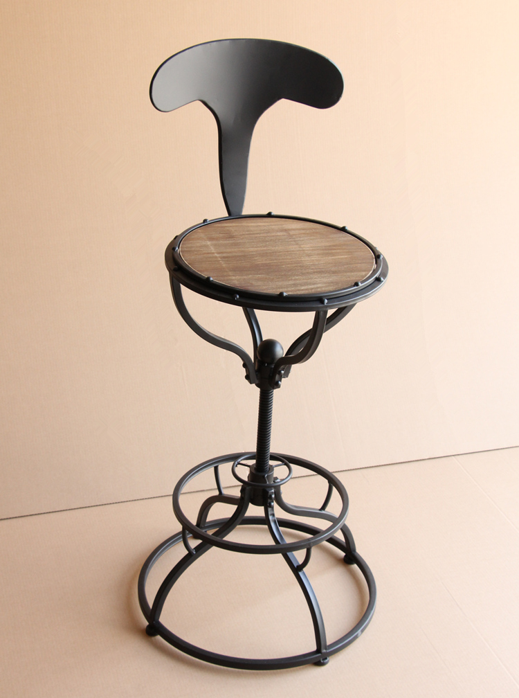 Wrought iron bar chair.. Household stool chair restoring ancient ways