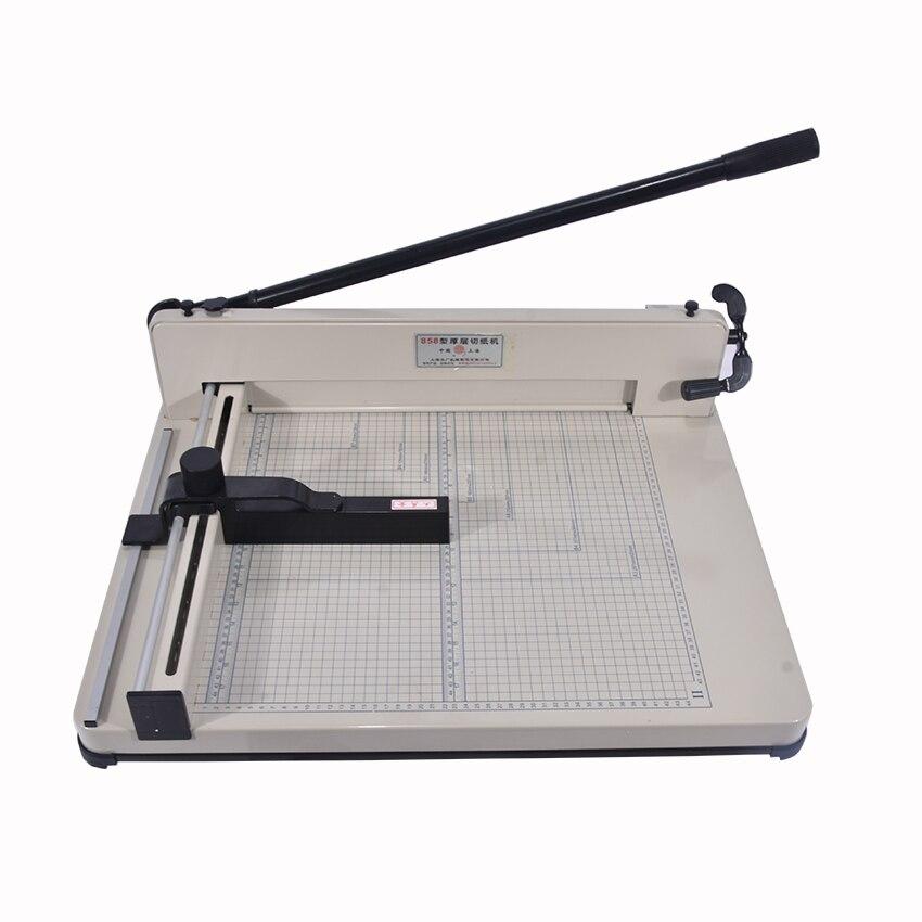 Desktop Stack Paper Cutter Guillotine 858-A3 size paper Cutting Machine max width 40mm цена