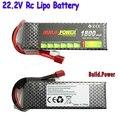 Construção Original de Energia Li-Polímero Bateria Lipo 6 S 22.2 V 1100 mah 1300 mah 1500 mAh 1800 mah Max 50C para Barco Carro RC Quadcopter FPV