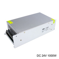 AC 220V Input Switching Power Supply Inverter DC 24V 1000W High Power Strip Led Power Supply with Cooling