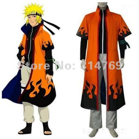 Anime Naruto Cosplay Costumes Robe Naruto Uzumaki 6th Hokage Cloak for Halloween Party Cosplay