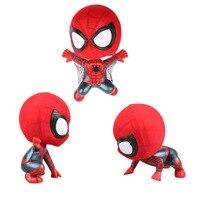 Q versão Do Homem Aranha The Amazing Spider Man balançando a cabeça PVC Figuras Colecionáveis Brinquedos Modelo 1 pçs/set 7-9 cm