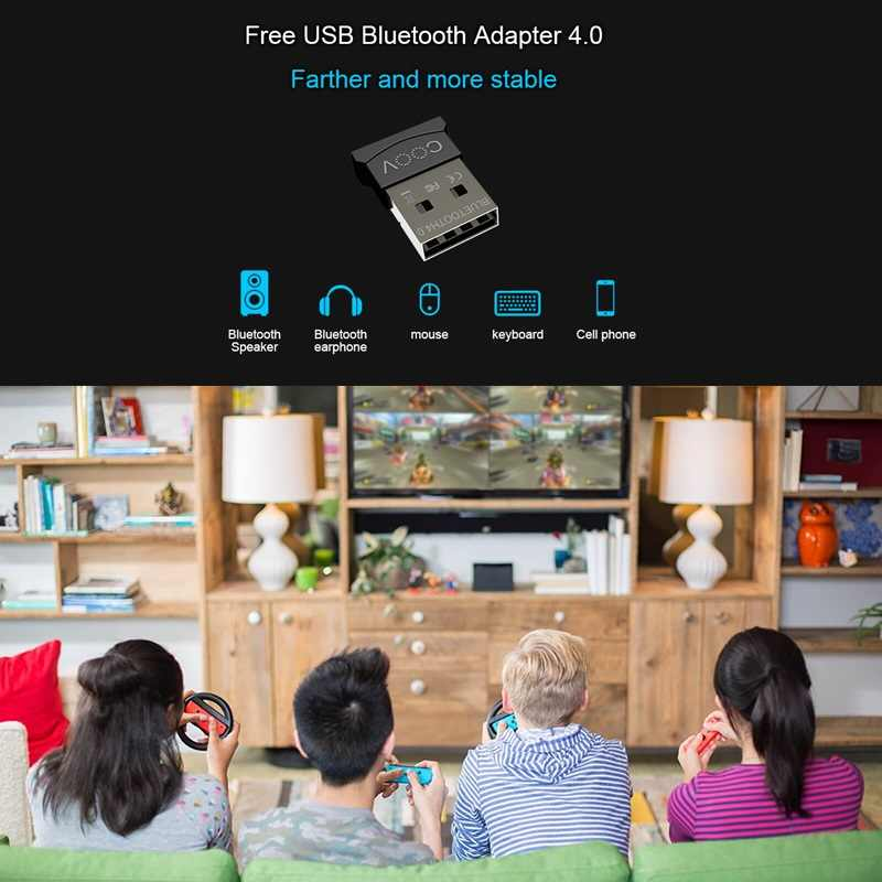 CooV N100 Pro Wireless Bluetooth Controller Converter Adapter 4 0 Receiver  for NS Nintend Switch PS4 Xbox one S PC Android