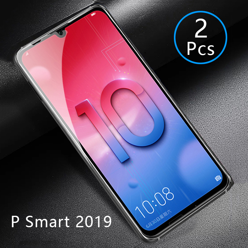2pcs Tempered Glass For Huawei P Smart 2019 Case Full Cover Screen Protector Protective Phone Safety