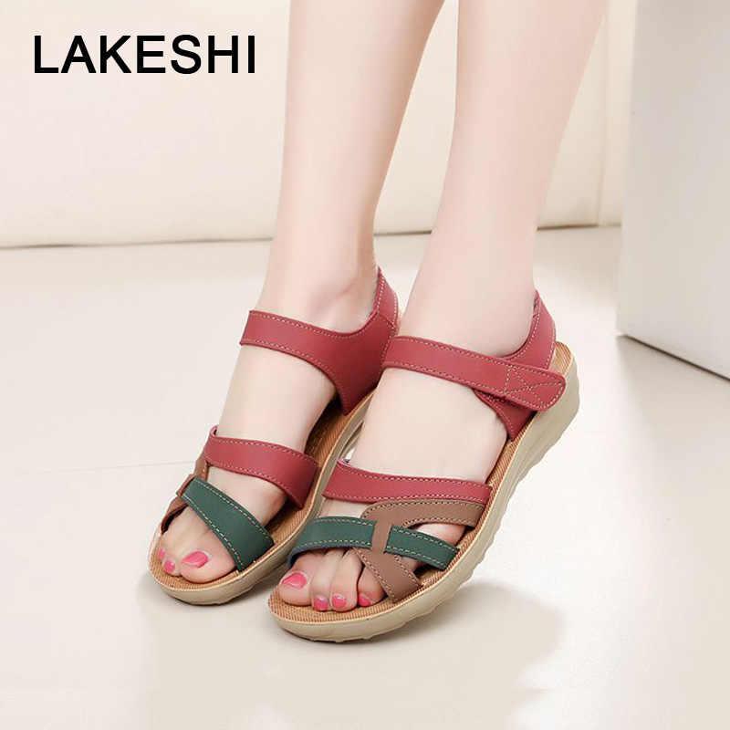 a8db4930854d Summer Women Sandals Bohemian Flat Sandals Women Shoes Flip Flops Mothers  Shoes Soft Open Toe Casual