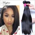 Оптовая mayfair волос бразильского виргинские волос прямо 7а необработанные девственные волосы человеческих волос 4 связки сделки