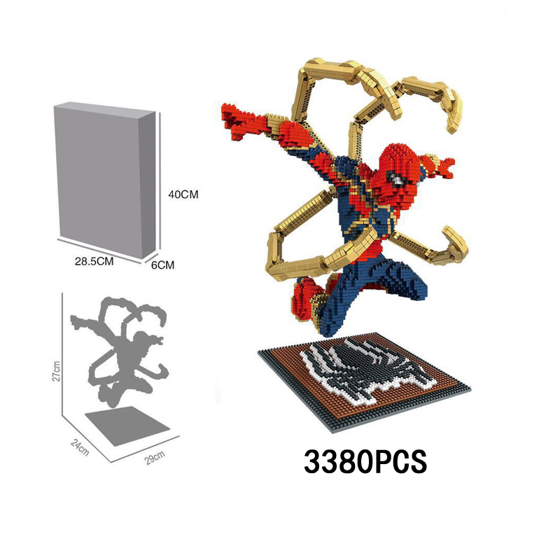 Hot movie avenger infinity war marvel super heroes micro diamond stacking block iron amazing spiderman nanoblock model brick toy цена