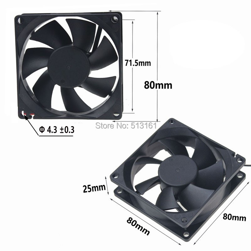 80mm ball fan 12v 7