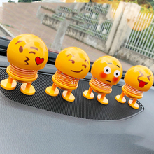 Cartoon Expressions Series Spring Head Shaking Dolls car acc