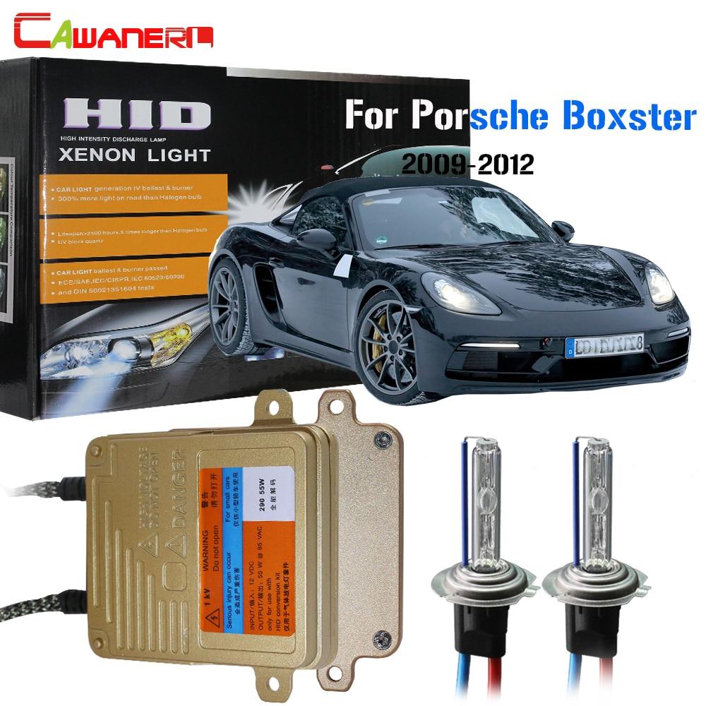 Cawanerl H7 55W HID Xenon Kit AC Car No Error Bulb Ballast 3000K-8000K For Porsche Boxster 2009-2012 Auto Headlight High Beam