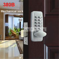 380B mechanical keyless digital keypad code locker Home entrance safety lock stainless steel Material 35 50mm door thickness
