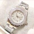Novo 2016 Moda Casual Relógio de Prata Pulseira de Relógio Mulheres Strass Relógios das Mulheres de Quartzo elegante Relógio de Pulso relojes mujer