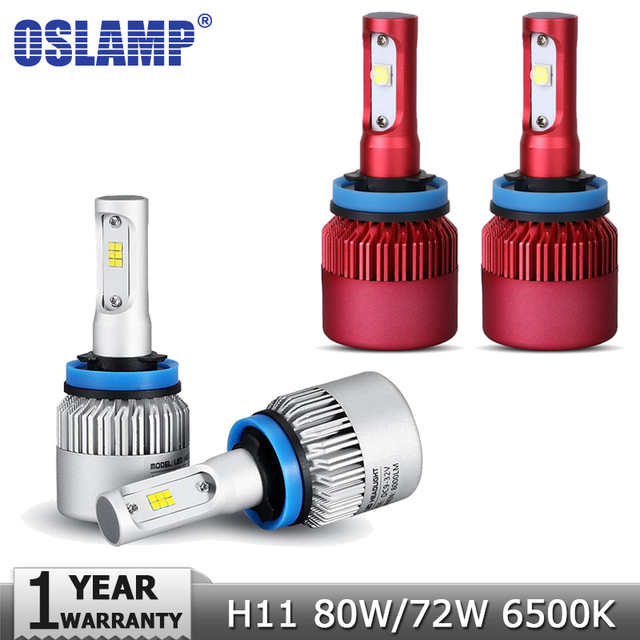 Oslamp H11 80W/9600LM 72W/8000LM Car Led Headlight Bulb SMD CSP CREE Chips 6500K h11 h8 h9 Fog Light Auto Led Headlamp DC12v 24v