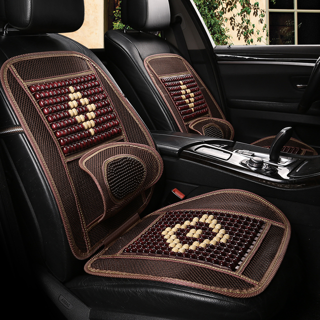 Truck Driver Seat Cushion >> Us 25 92 16 Off Sing Summer Bamboo Ventilation Wooden Bead Air Car Seat Cushion Cooling Cushion Car Large Truck Driver S Seat Fit All Cars In