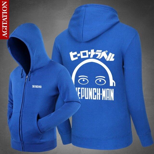Saik Saitama One Punch Man Hoodies Hoody  Sweatshirts Cute Loose Outerwear Unisex Cotton Zipper Coat