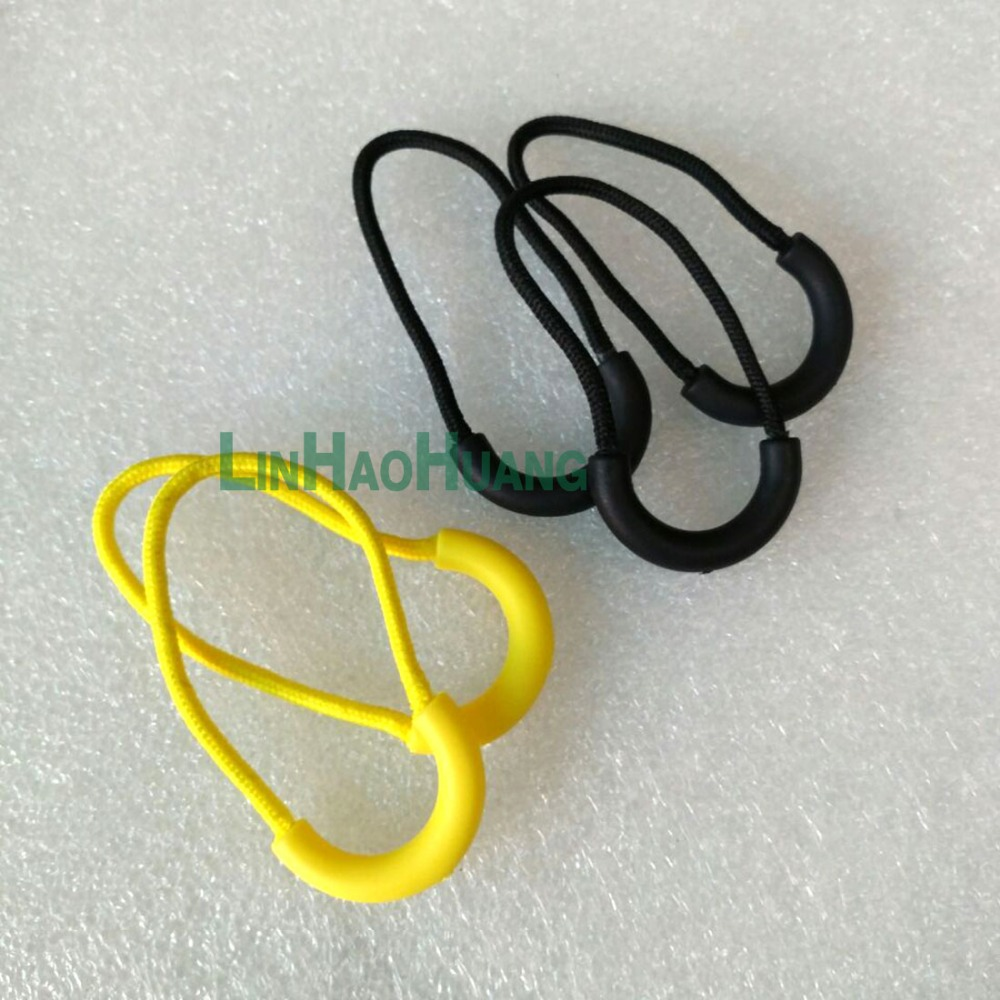 ᗐ100pcs/lot slip-resistant yellow zipper puller plastic puller for ...