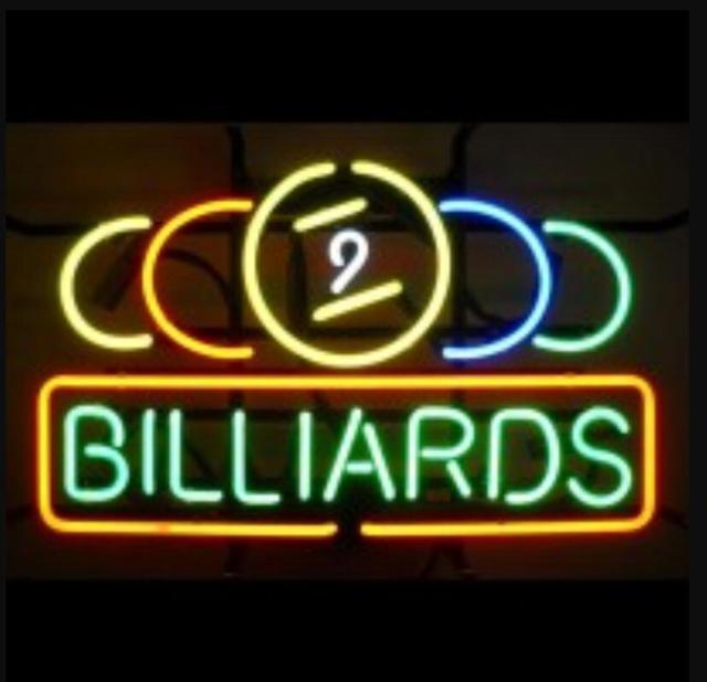 Custom BILLIARDS Glass Neon Light Sign Beer Bar