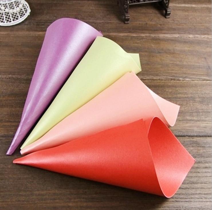 50 X Wedding Favors Flower Cones Holder Ice Cream Style