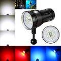 Бесплатная Доставка Подводный 100 м 10X XML2 + 4 xRed + 4 xBlue LED Фото Видео Погружения Фонарик Лампы