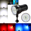 Free Shipping Underwater 100m 10X XML2+4xRed+4xBlue LED Photography Video Dive Flashlight Lamp