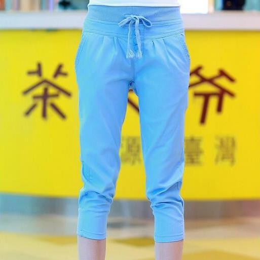 #1606 Com Painéis de Verão 2017 harem pants para as mulheres Moda Casual Finas calças De cintura Alta Branca Pantalon femme Moletom mulheres