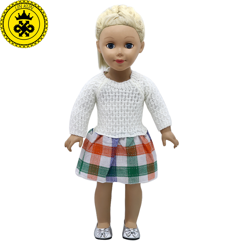 American Girl Doll Clothes 6 Styles Woolen Hand-woven Princess Dress fit 18 inch American Girl Doll Accessories Girl's Gift 360 american girl dolls clothing 6 styles elegant color flower print long dress for 18 inch doll clothes accessories girl x 40