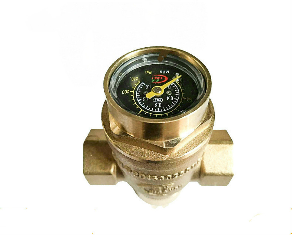Water Pressure Regulator Valves With Pressure Gauge Pressure Maintaining Valve Water Pressure Reducing Valve DN15-DN50 купить в Москве 2019