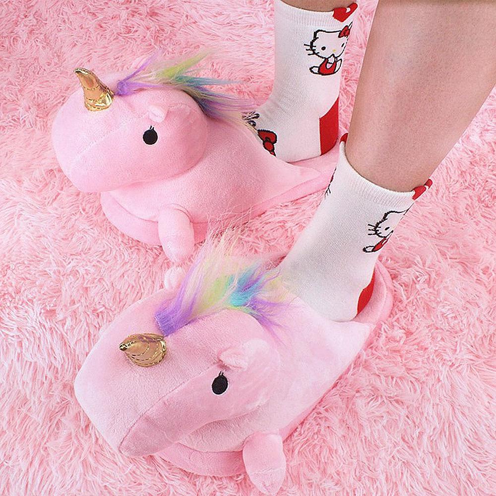 diversificato nella confezione molte scelte di prezzo base Pantofole Unicorno Unicorno Terlik Ciabatte Pantofole ...