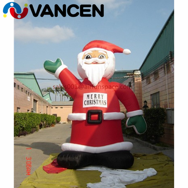 4mH inflatable christmas decoration cute father christmas for advertising wholesale price inflatable santa claus for sale