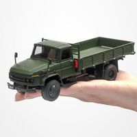 19.5CM 1:36 Scale Toy Car Metal AlloyClassic Millitary Pickup Truck Pull Back Diecasts Vehicles Model Toys Gift For Children Kid