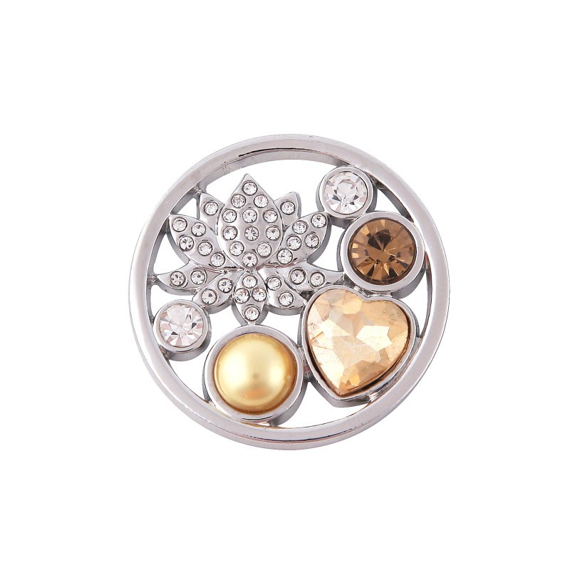 Somsoar 33mm Deluxe Coin with Lotus Flower Fit 35mm My Coin Holder Pendant Necklace 10pcs//lot