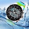 Новый 2017 Марка SKMEI Часы Мужчины Спортивные Relojes Мужской Часы Для Дайвинга Плавать Моды Цифровые Часы Военные Многофункциональные Наручные Часы